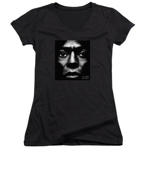 Miles Davis Tutu Women's V-Neck (Athletic Fit)
