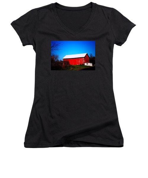 Milk House And Barn Women's V-Neck (Athletic Fit)