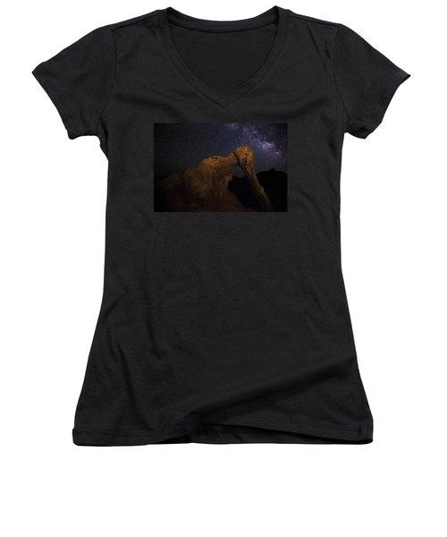 Milky Way Over The Elephant 2 Women's V-Neck