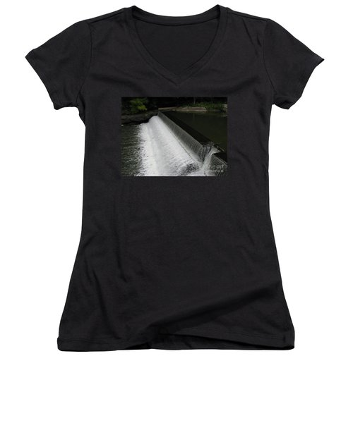 Mill On The River Women's V-Neck T-Shirt (Junior Cut) by Michael Krek