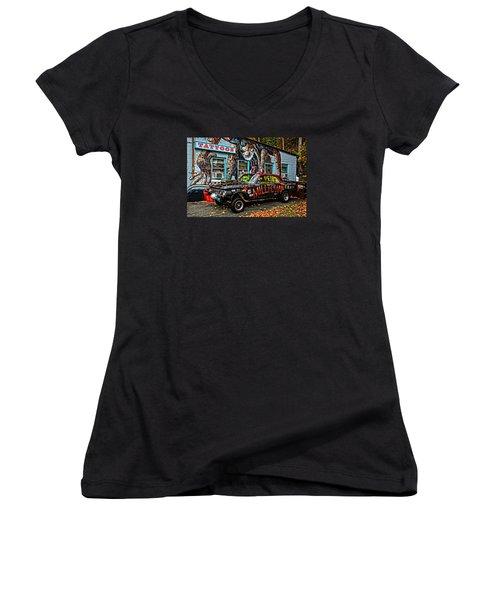 Milltown's Edsel Comet Women's V-Neck T-Shirt (Junior Cut)