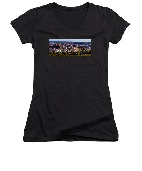 Mini Downtown Parkersburg Women's V-Neck (Athletic Fit)