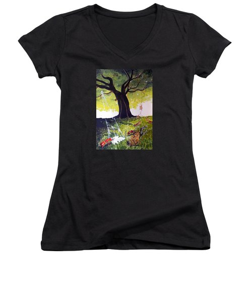 Mirage Of Lives  Women's V-Neck T-Shirt
