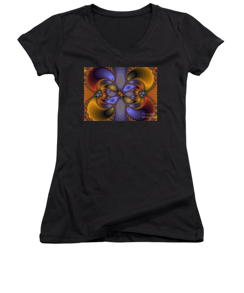 Mirror Butterfly Women's V-Neck (Athletic Fit)
