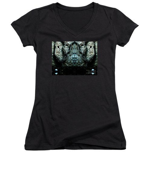 Mirror Mirror On The Wall Women's V-Neck T-Shirt (Junior Cut) by Andy Prendy