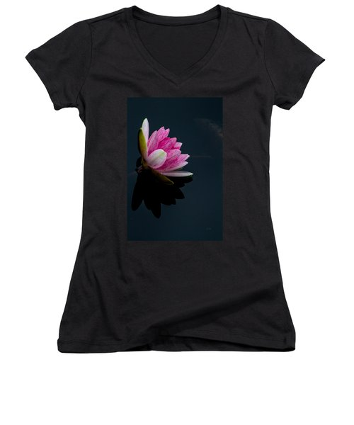 Mirror... Mirror On The Water Women's V-Neck (Athletic Fit)