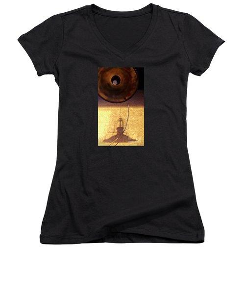 Misperception Women's V-Neck T-Shirt (Junior Cut) by James Aiken