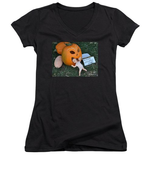 Missing Children Department Women's V-Neck T-Shirt