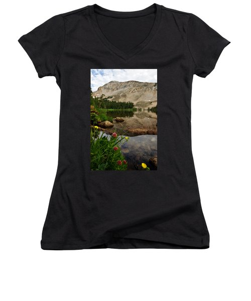 Mitchell Lake Reflections Women's V-Neck (Athletic Fit)