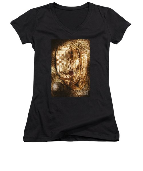 Mitts And Squiggles  Women's V-Neck T-Shirt (Junior Cut) by Jorgo Photography - Wall Art Gallery