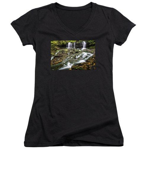 Mohawk Falls 1 Women's V-Neck T-Shirt (Junior Cut)