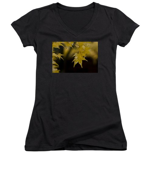 Moist Yellow Women's V-Neck (Athletic Fit)