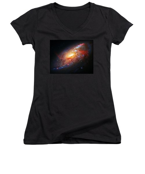 Molten Galaxy Women's V-Neck T-Shirt
