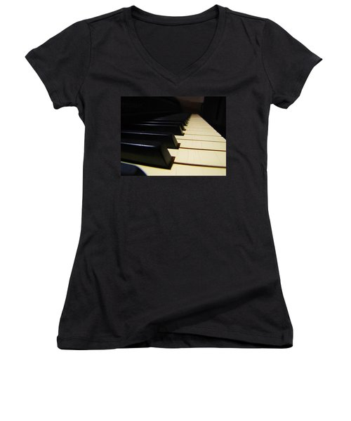 Moment Of Silence Women's V-Neck T-Shirt (Junior Cut) by Greg Simmons