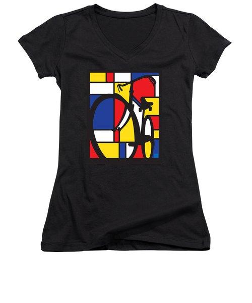 Mondrian Bike Women's V-Neck