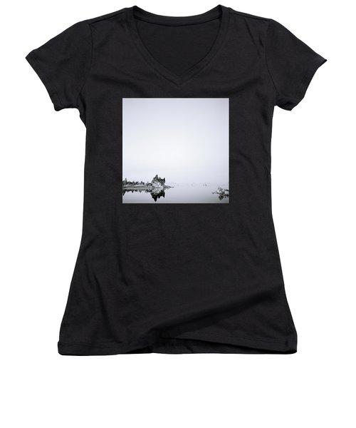 Still Waters Run Deep Women's V-Neck T-Shirt (Junior Cut) by Shaun Higson