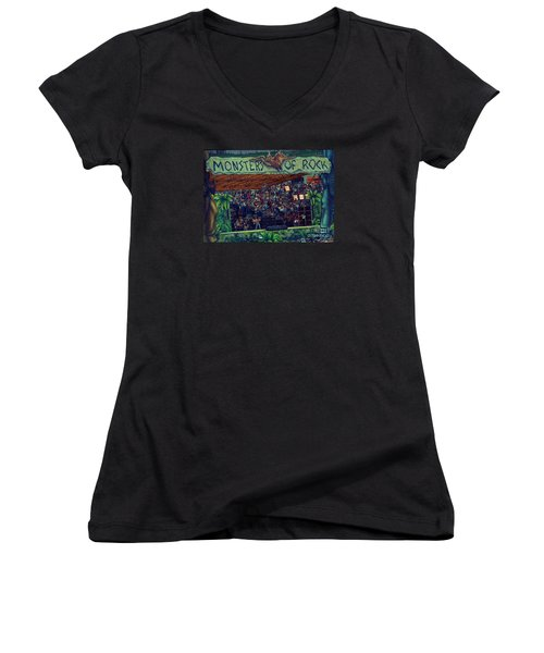 Monsters Of Rock Stage While A C D C Started Their Set - July 1979 Women's V-Neck (Athletic Fit)