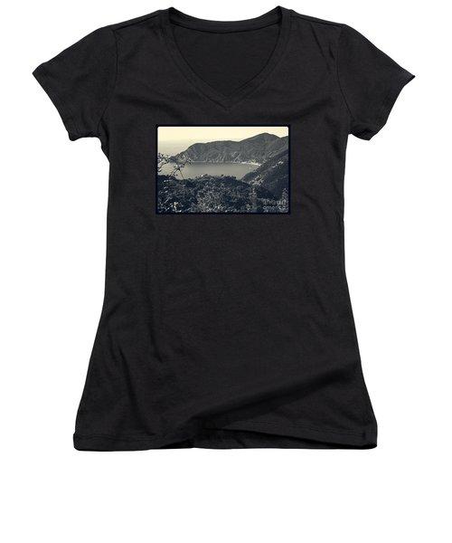Monterosso Al Mare From Above Women's V-Neck