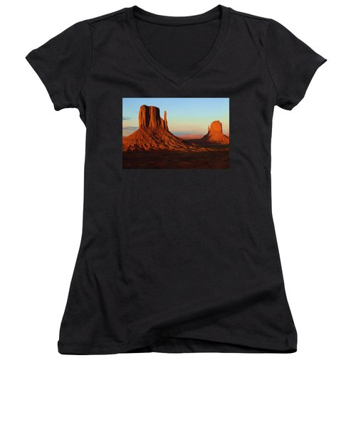 Monument Valley 2 Women's V-Neck (Athletic Fit)