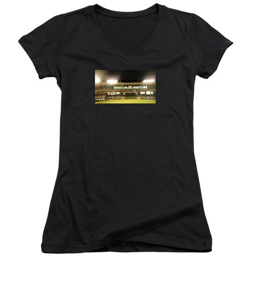 Moon In The Arches-edited Women's V-Neck T-Shirt (Junior Cut) by Kelly Awad