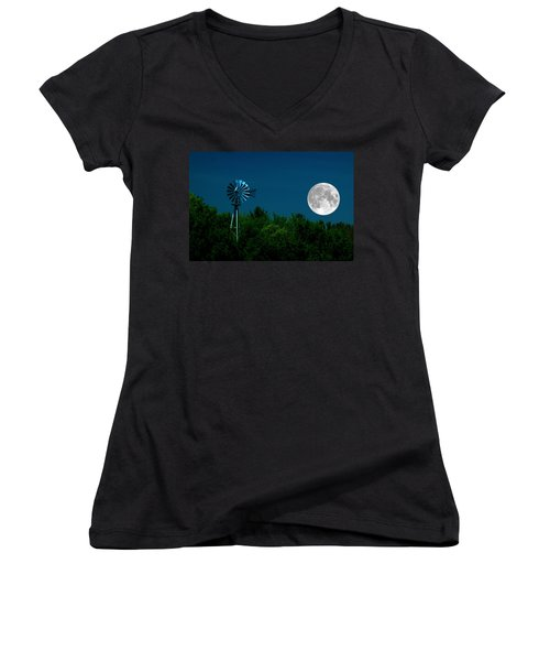 Moon Risen Women's V-Neck T-Shirt