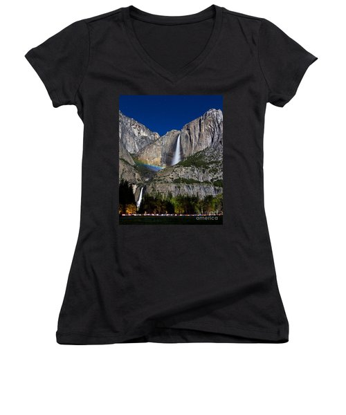 Moonbow Women's V-Neck T-Shirt