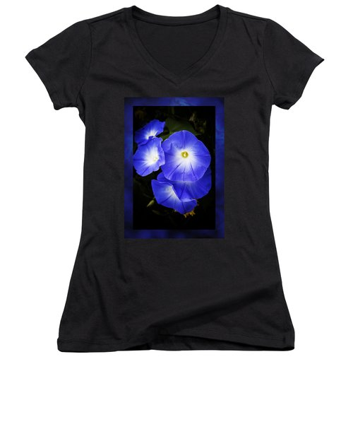 Moonglow On Blue Women's V-Neck