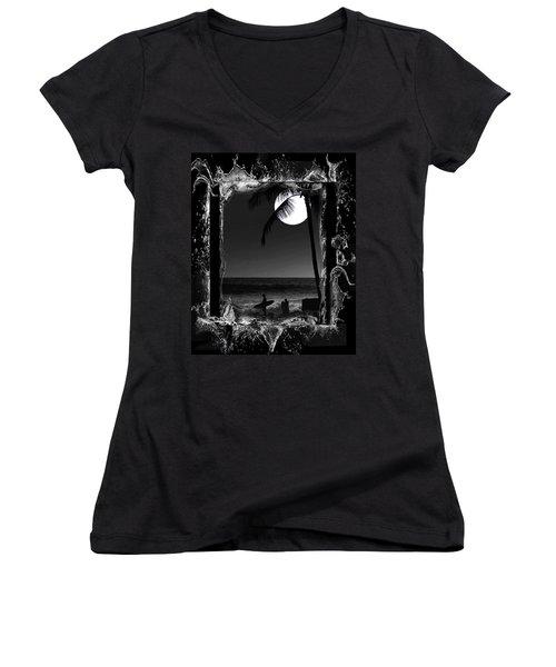 Moonlight Surf Women's V-Neck T-Shirt
