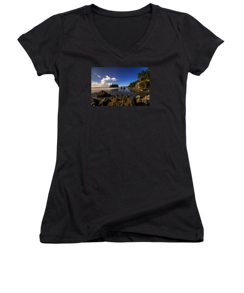 Moonlit Ruby Women's V-Neck T-Shirt