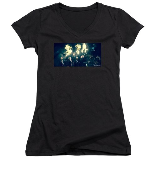 Women's V-Neck featuring the photograph Moorish Army  by Stwayne Keubrick