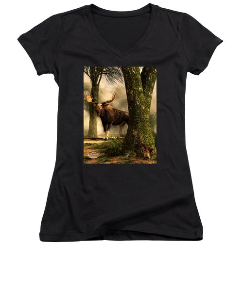 Moose And Squirrel Women's V-Neck