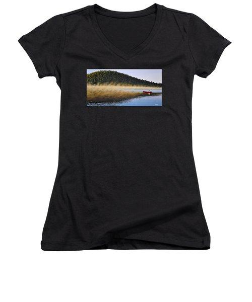 Moose Lake Paddle Women's V-Neck