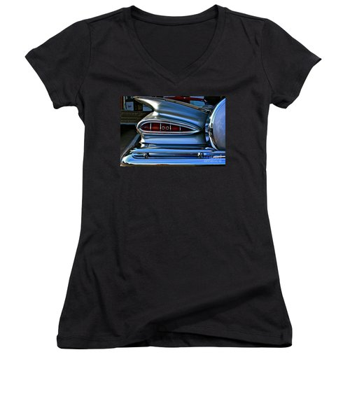 Women's V-Neck T-Shirt (Junior Cut) featuring the photograph More Curves Than Marilyn by Linda Bianic