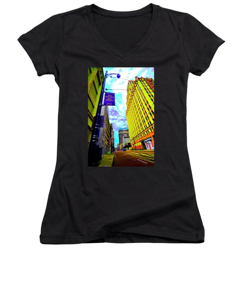 More Memphis On Monroe Women's V-Neck