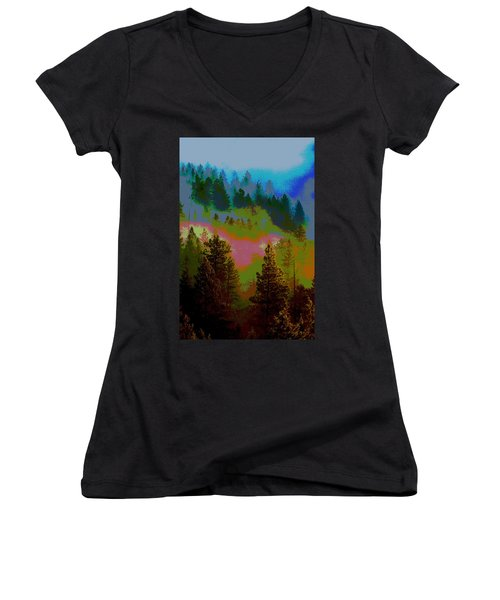 Morning Arrives In The Pacific Northwest Women's V-Neck
