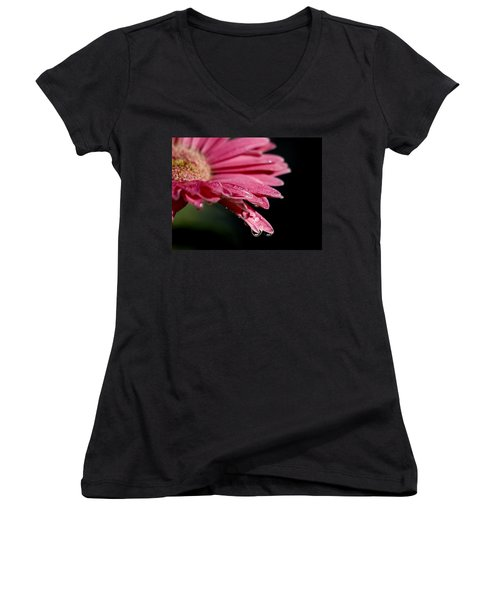 Women's V-Neck T-Shirt (Junior Cut) featuring the photograph Morning Dew by Joe Schofield