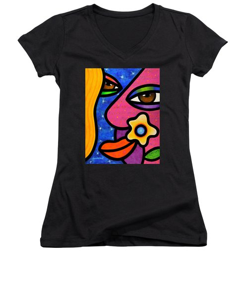 Morning Gloria Women's V-Neck T-Shirt