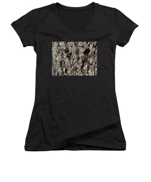 Women's V-Neck T-Shirt (Junior Cut) featuring the photograph Moss And Lichens by Jason Williamson