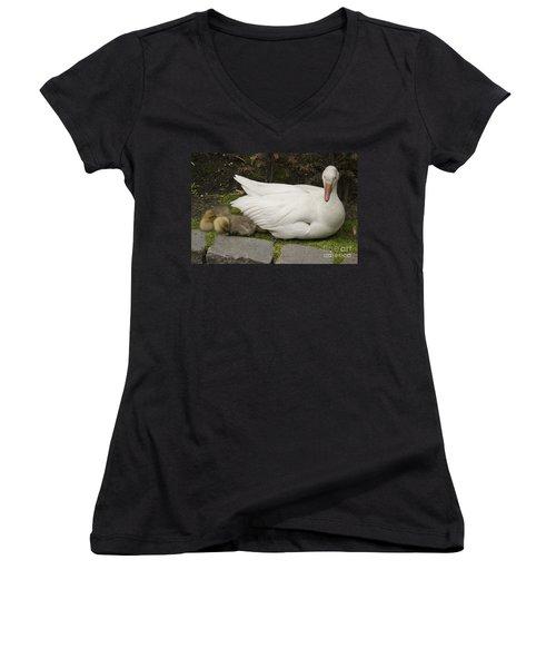 Mother Love Women's V-Neck T-Shirt (Junior Cut) by Victoria Harrington