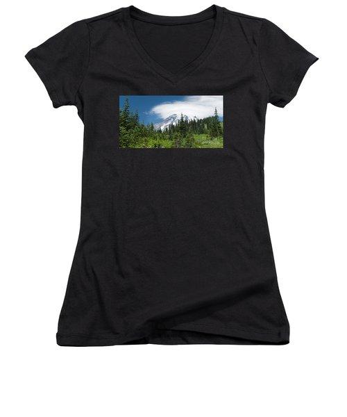 Mount Rainier Forest Women's V-Neck T-Shirt