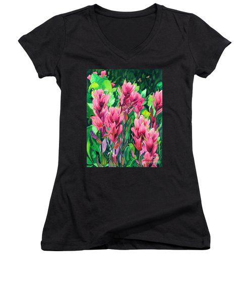 Mountain Meadows' Paintbrush Women's V-Neck T-Shirt