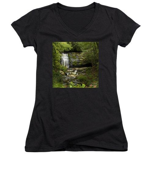 Mountain Stream Falls Women's V-Neck