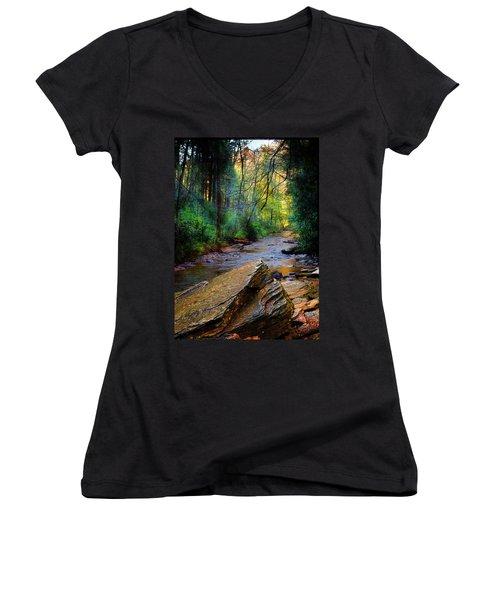 Mountain Stream N.c. Women's V-Neck T-Shirt