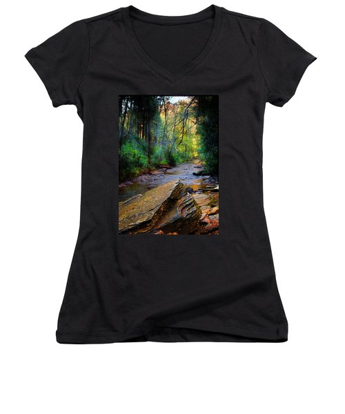 Mountain Stream N.c. Women's V-Neck (Athletic Fit)