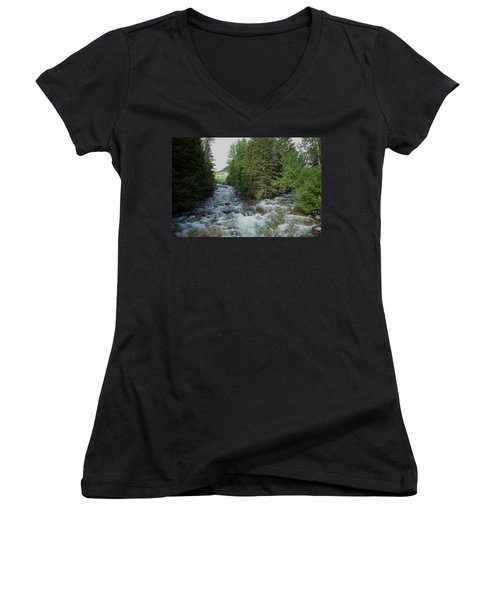 Mountain Stream Women's V-Neck (Athletic Fit)