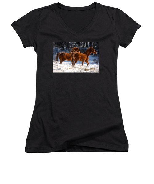 Moving In Motion 2 Women's V-Neck (Athletic Fit)