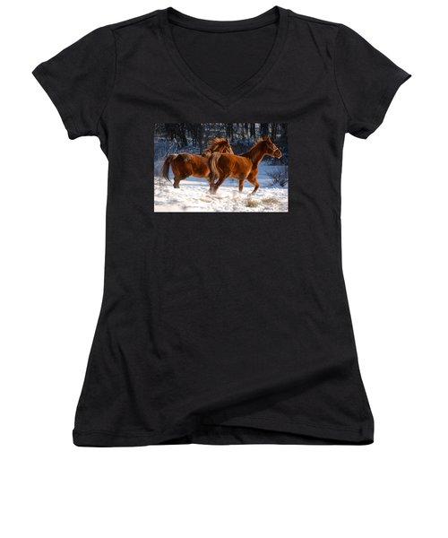 Moving In Motion 2 Women's V-Neck T-Shirt