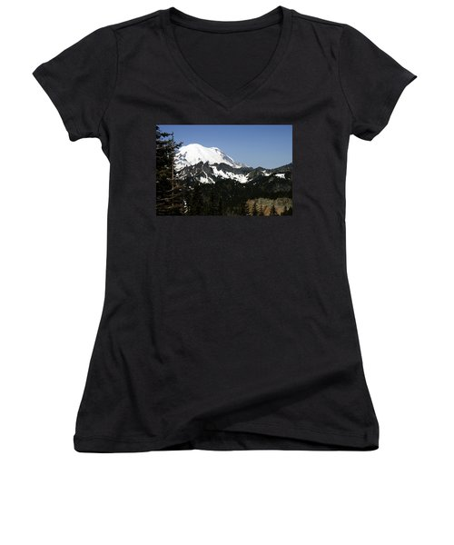 Mt Rainer From Wa-410 Women's V-Neck (Athletic Fit)