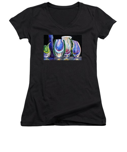 Murano Crystal Women's V-Neck T-Shirt