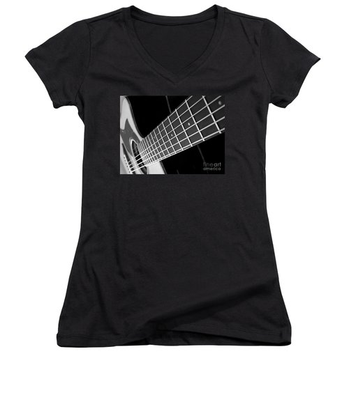Women's V-Neck T-Shirt (Junior Cut) featuring the photograph Music To My Soul by Andrea Anderegg